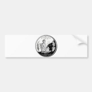Alabama State Quarter Bumper Sticker