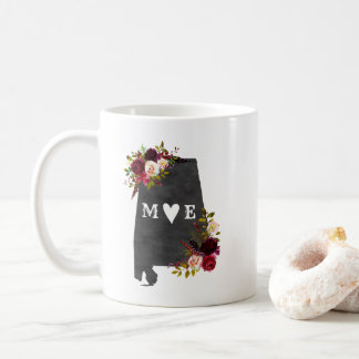 Alabama State Rustic Country Wedding Monogram Coffee Mug