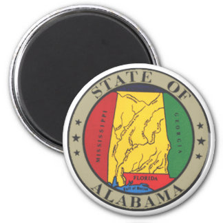 Alabama State Seal 6 Cm Round Magnet