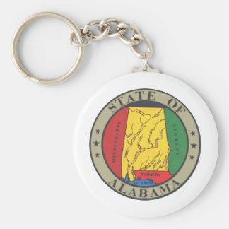 Alabama State Seal Key Ring