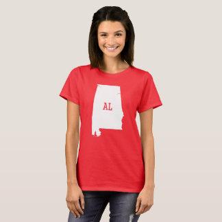 Alabama State White Map AL Women's T-Shirts