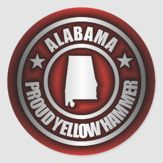 """Alabama Steel"" Stickers (Red)"