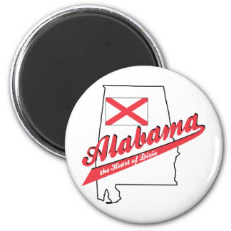 Alabama - The Heart of Dixie 6 Cm Round Magnet