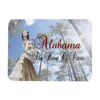 Alabama The Heart Of Dixie Flexible Magnet