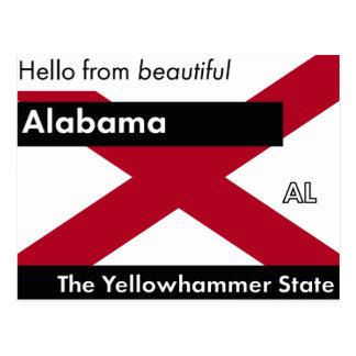 Alabama The Yellowhammer State Postcard