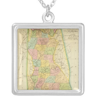 Alabama US Silver Plated Necklace