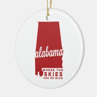 Alabama | Where the Skies Are So Blue | Crimson Do Christmas Ornament