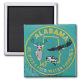 Alabama Wildlife magnet for refrigerator