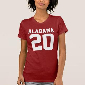 Alabama With Number (Customizable Number) T-Shirt