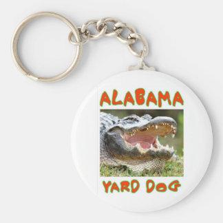 ALABAMA YARD DOG BASIC ROUND BUTTON KEY RING