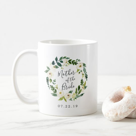 Floral Wreath Mother of the Bride Coffee Mug