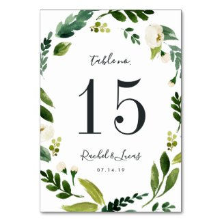 Alabaster | Personalised Table Number Card