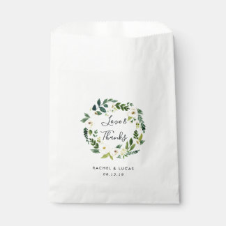 Alabaster Wreath Wedding Thank You Favour Bags