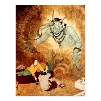 Aladdin and the Efrite Postcard
