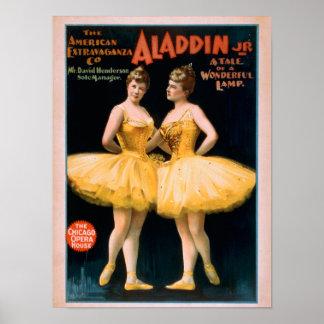 Aladdin Jr. Tale of a Wonderful Lamp Theatre Poster