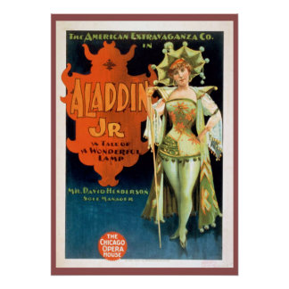 Aladdin Jr Vintage Theater Poster