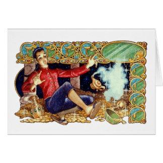 Aladdin s Lamp Greeting Card