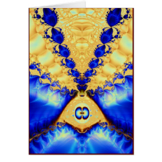 aladdin's lamp: gold & lapis greeting card