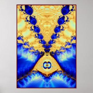 aladdin's lamp: gold & lapis poster