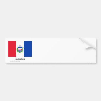 Alagoas, Brazil Flag Bumper Sticker