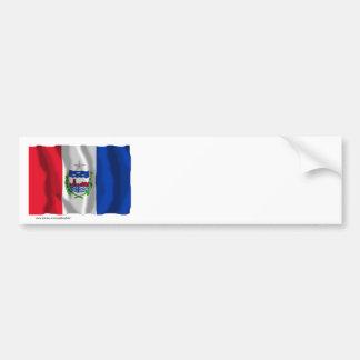 Alagoas, Brazil Waving Flag Bumper Sticker