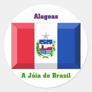 Alagoas Flag Gem Round Sticker