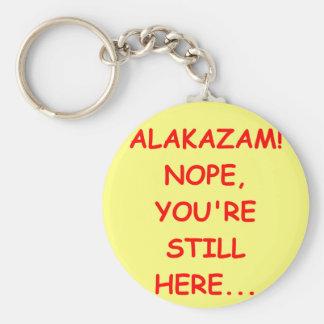 ALAKAZAM.png Basic Round Button Key Ring