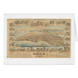 Alameda, CA. Panoramic Map (0540A) Greeting Card