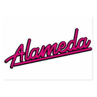 Alameda in magenta business card