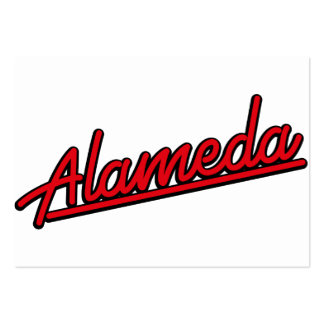 Alameda in red business card