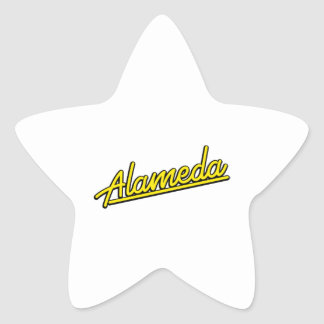 Alameda in yellow star stickers