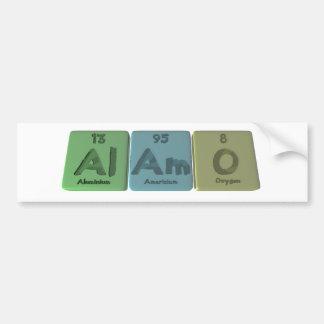 Alamo-Al-Am-O-Aluminium-Americium-Oxygen Car Bumper Sticker