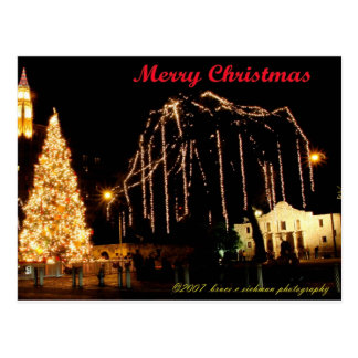 Alamo at Christmas Postcard