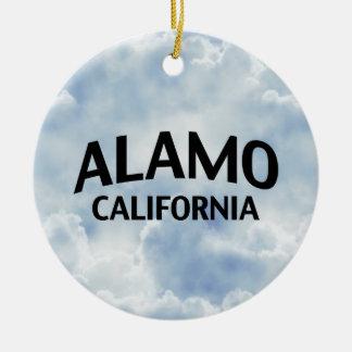 Alamo California Round Ceramic Decoration