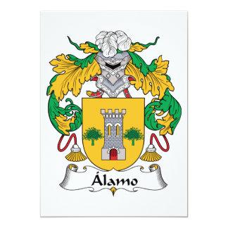 "Alamo Family Crest 5"" X 7"" Invitation Card"