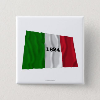 Alamo Flag 15 Cm Square Badge