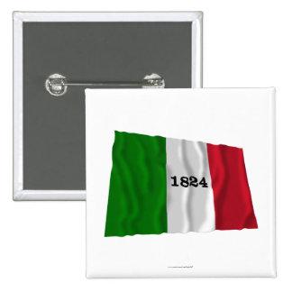 Alamo Flag 15 Cm Square Badge
