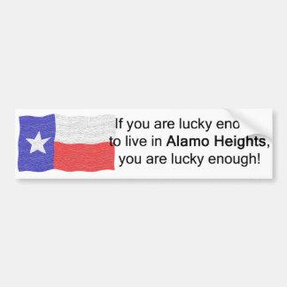 Alamo Heights Lucky Bumper Sticker Car Bumper Sticker