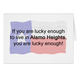 Alamo Heights Lucky Greeting Card