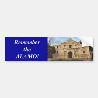 Alamo Lawn Car Bumper Sticker