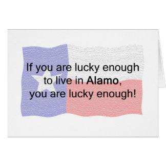 Alamo Lucky Greeting Card