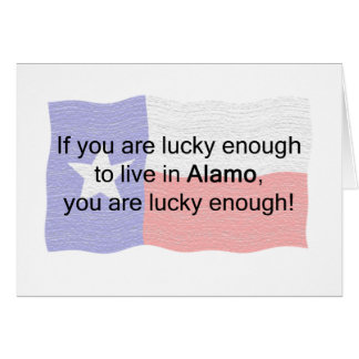 Alamo Lucky Greeting Card