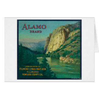 Alamo Orange LabelFillmore, CA Greeting Card