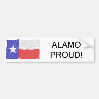 Alamo Proud Bumper Sticker Car Bumper Sticker