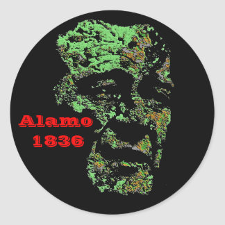 Alamo Round Sticker
