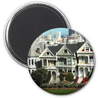 Alamo Square 6 Cm Round Magnet
