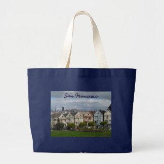 Alamo Square, San Francisco Jumbo Tote Bag