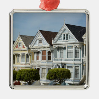 Alamo Square Victorian Houses in San Francisco Christmas Ornament