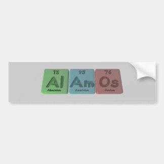 Alamos-Al-Am-Os-Aluminium-Americium-Osmium Car Bumper Sticker