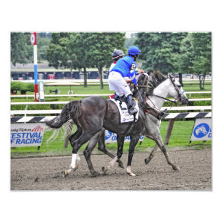 Alan Garcia aboard Godolphin's Emcee Photographic Print